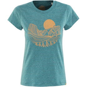 Prana Climbing Tee Women Deep Balsam Heather